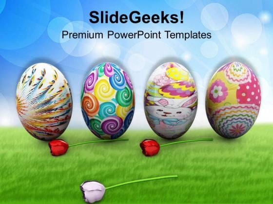 Colorful Easter Eggs Holidays PowerPoint Templates Ppt Backgrounds For Slides 0313