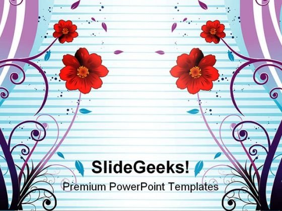 Colorful Flowers Abstract PowerPoint Themes And PowerPoint Slides 0511