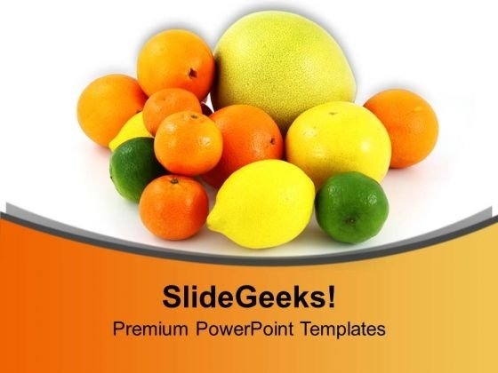 Colorful Fruits Healthy Life And Diet PowerPoint Templates Ppt Backgrounds For Slides 0213
