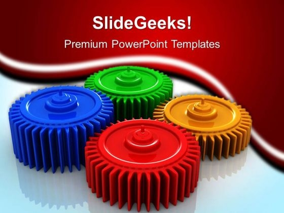 Colorful Gears Industrial PowerPoint Templates And PowerPoint Themes 0512