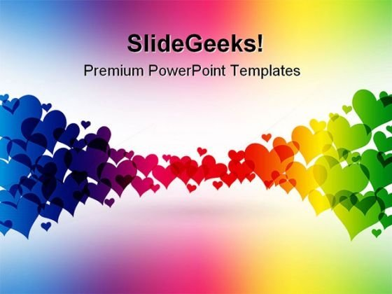 Colorful Hearts Abstract Powerpoint Backgrounds And Templates