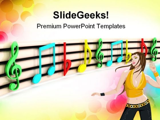 Colorful Notes Music PowerPoint Themes And PowerPoint Slides 0811
