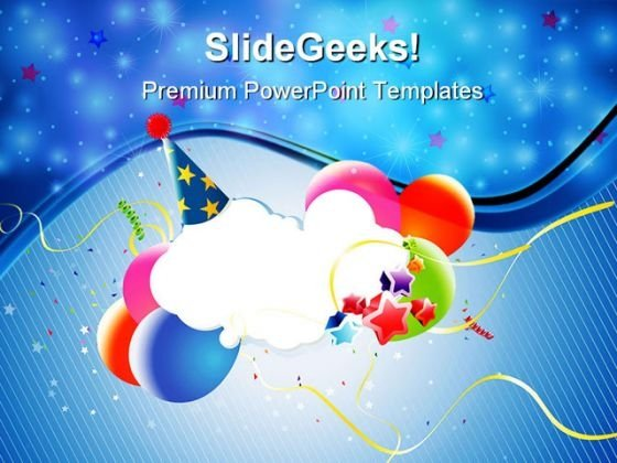 Colorful Party Balloons Events PowerPoint Themes And PowerPoint Slides 0611