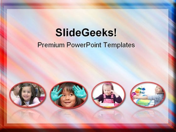 Colorful Photo Frame Children PowerPoint Themes And PowerPoint Slides 0611