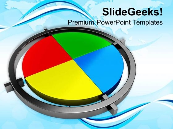 Colorful Pie Chart Business Strategy PowerPoint Templates Ppt Backgrounds For Slides 0113