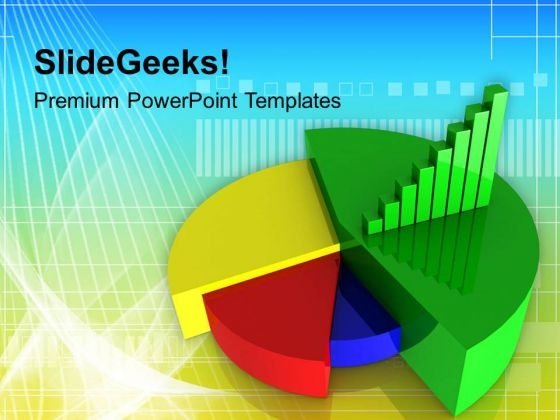 Colorful Pie Chart With Bar Graph PowerPoint Templates Ppt Backgrounds For Slides 0313
