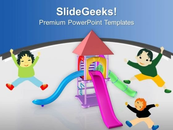 Colorful Playground For Kids PowerPoint Templates Ppt Backgrounds For Slides 0713