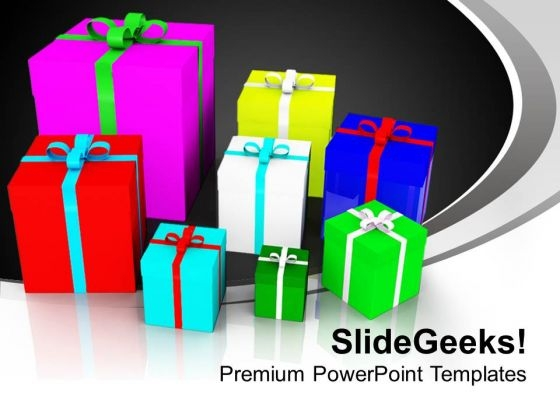 Colorful Presents Festival Holidays PowerPoint Templates Ppt Backgrounds For Slides 0113