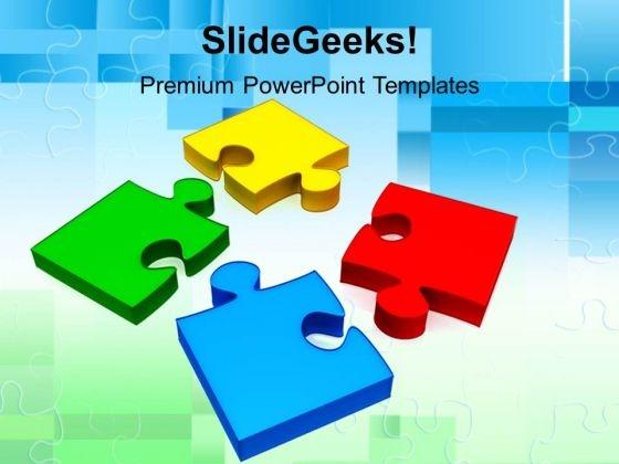 Colorful Puzzle Pieces PowerPoint Templates And PowerPoint Themes – Puzzle Powerpoint Template