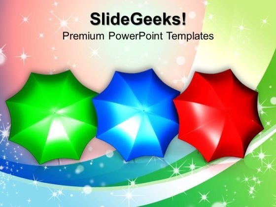 Colorful Umbrellas PowerPoint Templates And PowerPoint Themes 1012