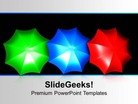 Colorful Umbrellas PowerPoint Templates Ppt Backgrounds For Slides 1112