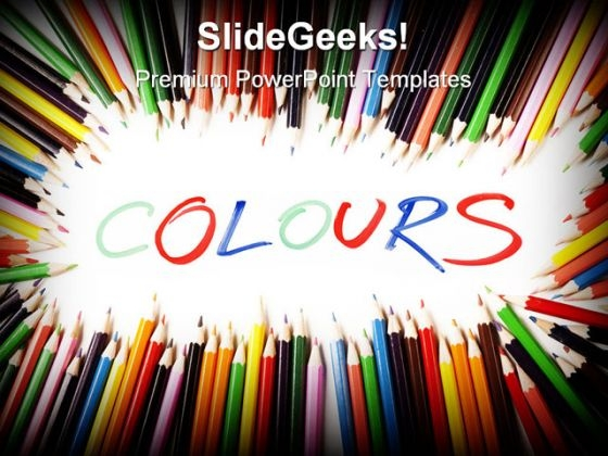 Colors Pencils Education PowerPoint Template 0910