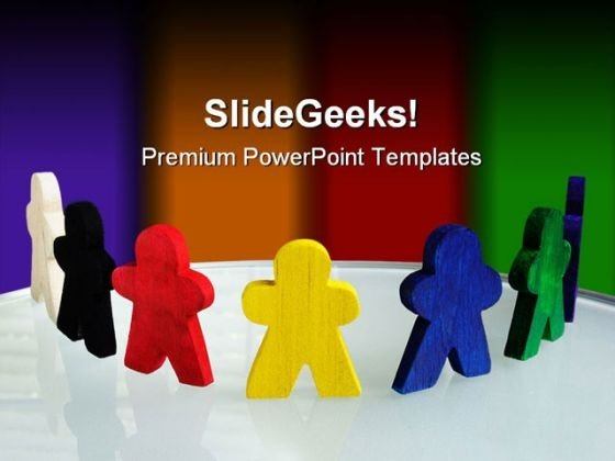 Coloured Team Business PowerPoint Templates And PowerPoint Backgrounds 0611