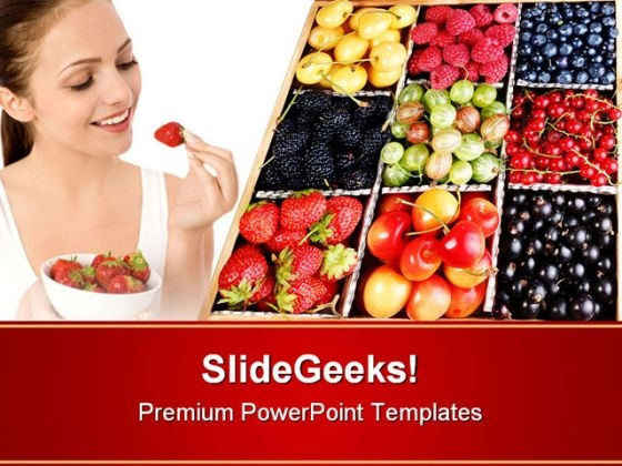 Colourful Berries Food PowerPoint Themes And PowerPoint Slides 0211