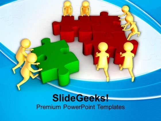 Come With Correct Solution PowerPoint Templates Ppt Backgrounds For Slides 0713