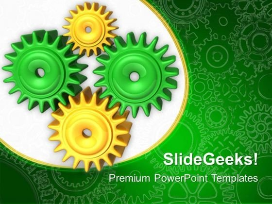 Communication Gearwheels PowerPoint Templates And PowerPoint Themes 0512