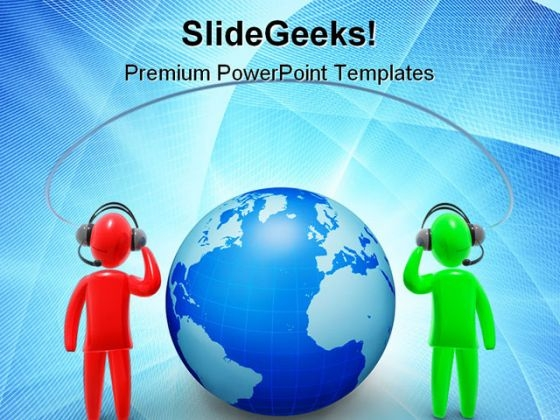 Communications Global PowerPoint Themes And PowerPoint Slides 0511
