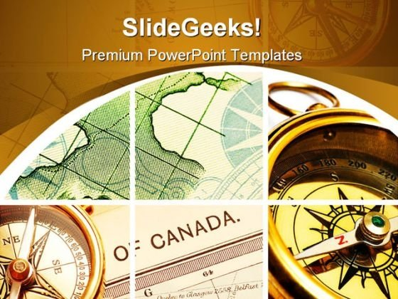 Compass And Map Collage Geographical PowerPoint Themes And PowerPoint Slides 0611