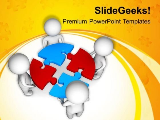 Complete Problem Puzzle And Get Success PowerPoint Templates Ppt Backgrounds For Slides 0813