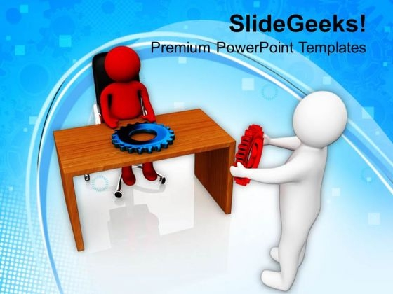 Complete The Gear Mechanism Process PowerPoint Templates Ppt Backgrounds For Slides 0813