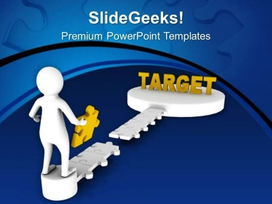 Complete The Task To Reach Your Target PowerPoint Templates Ppt Backgrounds For Slides 0713