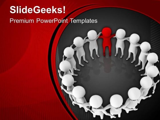 Complete The Team With Good Leader PowerPoint Templates Ppt Backgrounds For Slides 0613
