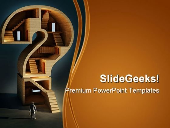 Complicated Question Maze Business PowerPoint Templates And PowerPoint Backgrounds 0311