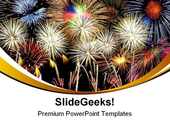 Composite Fireworks Abstract PowerPoint Templates And PowerPoint Backgrounds 0311