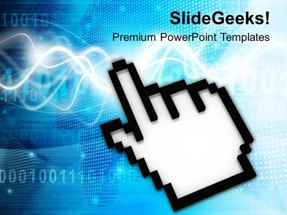 Computer Cursor Technology PowerPoint Templates Ppt Backgrounds For Slides 0713