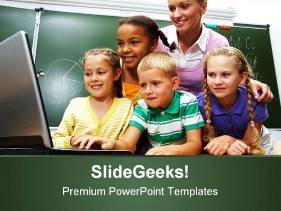 Computer Education PowerPoint Template 1110