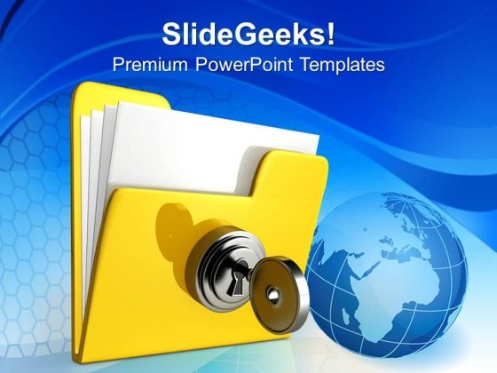 Computer Folder Security PowerPoint Templates And PowerPoint Themes 0912