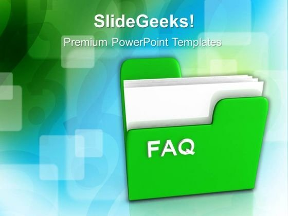 Computer Folder With Faq Internet PowerPoint Templates And PowerPoint Themes 0912