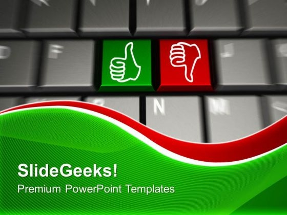 Computer Keyboard Two Gesturing Hands PowerPoint Templates And PowerPoint Themes 1012