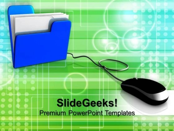 Computer Mouse And Folder Internet PowerPoint Templates And PowerPoint Themes 1012