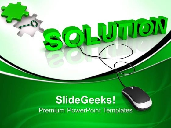Computer Solution Technology PowerPoint Templates And PowerPoint Themes 0812