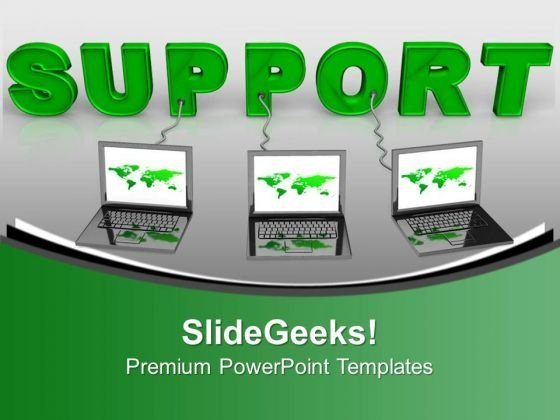 Computers Technical Support Metaphor PowerPoint Templates And PowerPoint Themes 0912