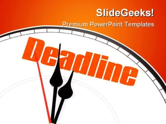 Concept Of Deadline Business PowerPoint Template 1110
