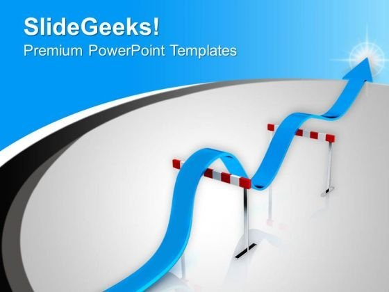 Concept Of Hurdles In Success Path PowerPoint Templates Ppt Backgrounds For Slides 0613