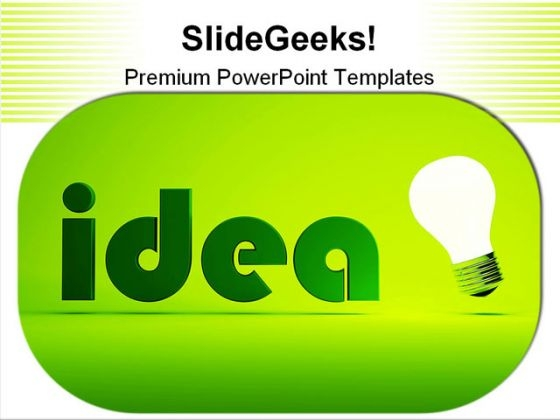 Concept Of Idea Business PowerPoint Themes And PowerPoint Slides 0211