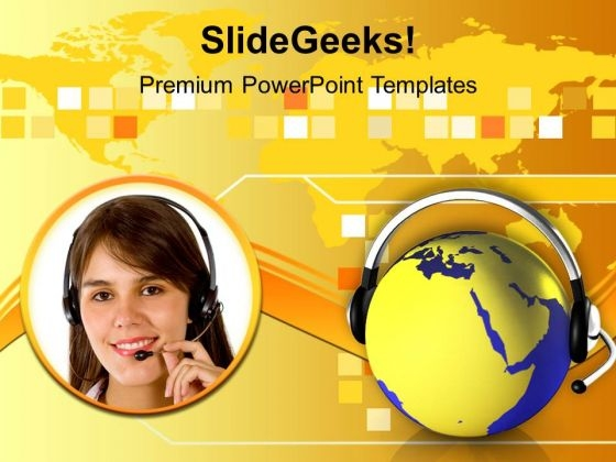 Conceptual Image Of Global Communication PowerPoint Templates Ppt Backgrounds For Slides 0113