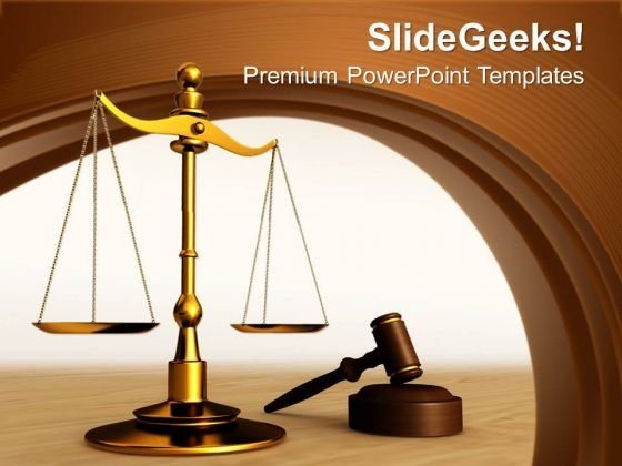 Conceptual Image Of Justice Is Served PowerPoint Templates Ppt Backgrounds For Slides 0113