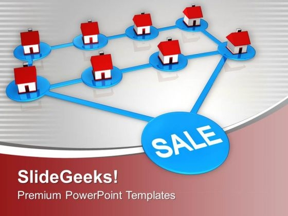 Conceptual Image Of Sale Of Real Estate PowerPoint Templates Ppt Backgrounds For Slides 0213