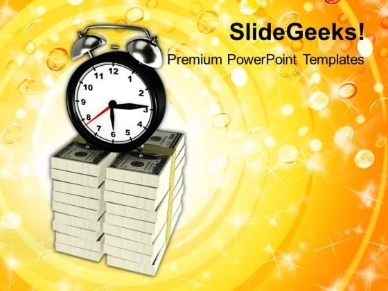 Conceptual Image Of Time Is Money PowerPoint Templates Ppt Backgrounds For Slides 0213
