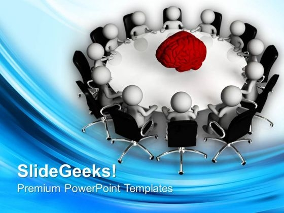 Conference Discussing About Business PowerPoint Templates Ppt Backgrounds For Slides 0813