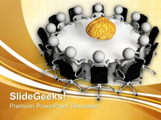 Conference Meeting With Innovative Ideas PowerPoint Templates Ppt Backgrounds For Slides 0813