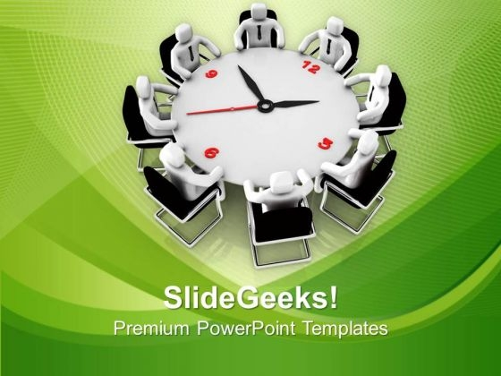 Conference On Time Management Business Strategy PowerPoint Templates Ppt Backgrounds For Slides 0813