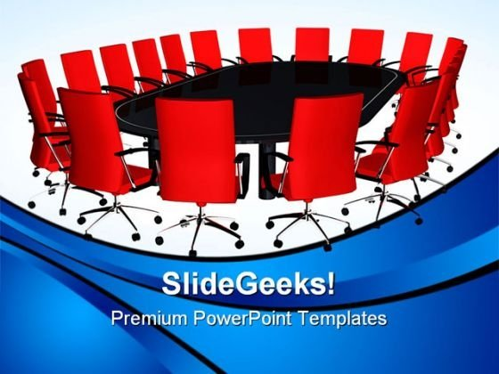 Conference Table Business PowerPoint Themes And PowerPoint Slides 0611