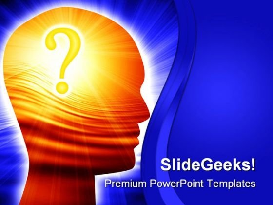 Confused Brain Business PowerPoint Themes And PowerPoint Slides 0811