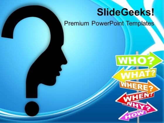 Confused Man With Questions Business Concept PowerPoint Templates Ppt Backgrounds For Slides 0213
