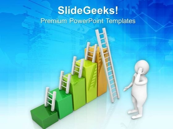 Confused To Climb Success Ladders PowerPoint Templates Ppt Backgrounds For Slides 0813